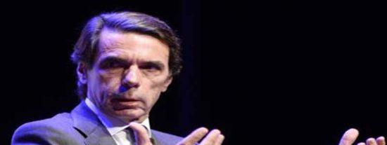 """El ex presidente Aznar apuesta por una intervención """"sin límites de tiempo"""" en Cataluña"""