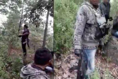 """¡Aquí va a ser!"" El momento en el que un grupo armado acribilla a tiros a policías del Estado de México"