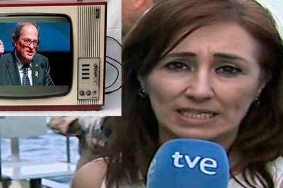 """TVE: la 'comisaria' Begoña Alegría ordena a sus periodistas """"no molestar a Torra en los Telediarios"""""""