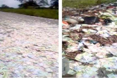 Hiperinflación: el indignante cementerio de billetes venezolanos ¡Gracias Nicolás!