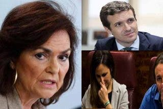 La podemita Belarra insulta al popular Casado por defender la prisión permanente y la socialista Calvo la aplaude