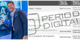 El 'Tu cara me suena' de Canal Sur que presenta Jaime Cantizano hace rico al descubridor de Paz Padilla