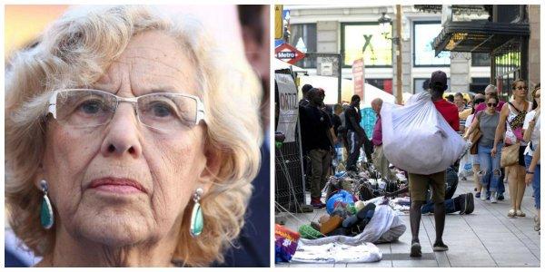 La distensión de Carmena con los manteros se le vuelve en contra: los comerciantes de uñas y ellos la llaman racista