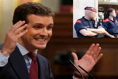"""Pablo Casado: """"Los Mossos son 16.000 hombres armados en manos de un loco fanático como Torra"""""""