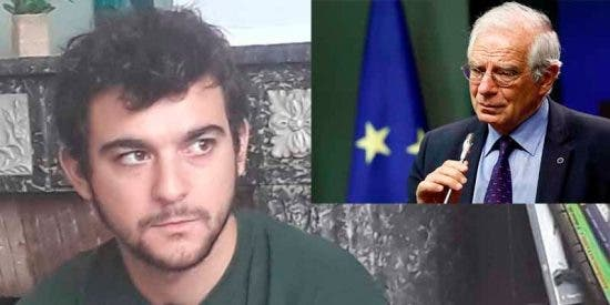 "Un violento CDR en fuga escrachea a Borrell en Bélgica: ""¡La Constitución es una puta farsa!"""