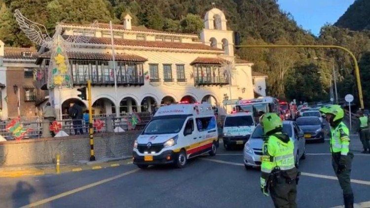 Accidente en una cabina de teleférico en Bogotá deja al menos 20 heridos