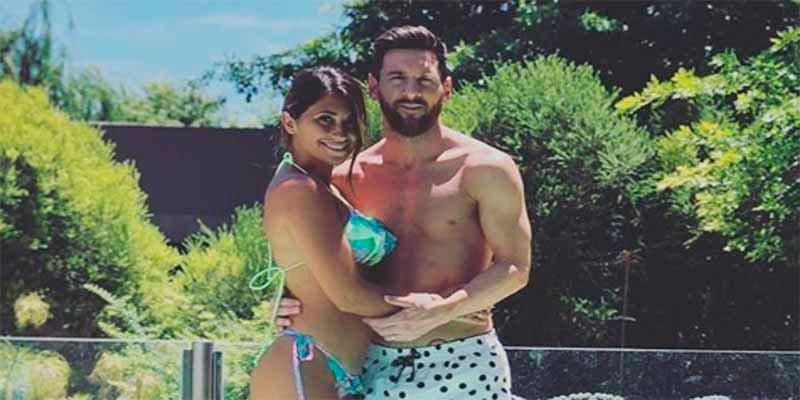 Leo Messi y Antonella Roccuzzo lucen cuerpazos en la piscina aprovechando el calor de la Navidad argentina