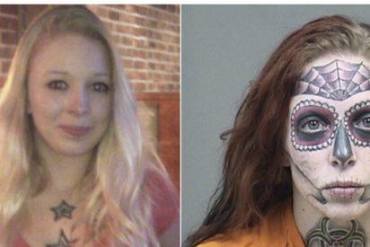 Esta chica detenida en EE.UU. se hace viral por sus tatuajes faciales al estilo del Día de Muertos