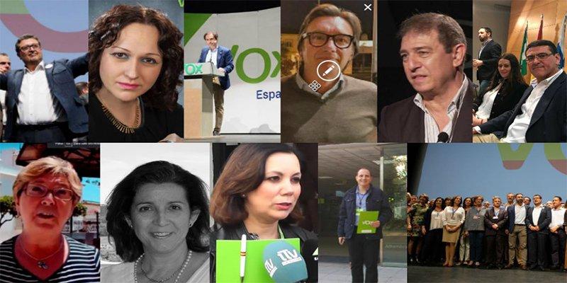 Abogado, empresario de drones, ama de casa, juez... Los 12 de VOX en Andalucía