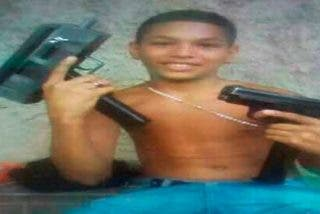 """El niño de 13 años asesinado en Venezuela, """"El Brayan"""" Alexander Rico."""