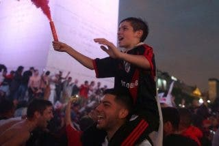 Así celebraron los hinchas la victoria de River Plate ante Boca Juniors en Copa Libertadores