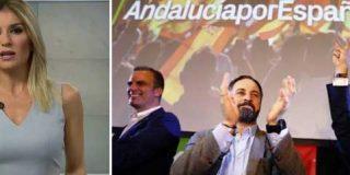 """La Atresmedia de la crispación: Sandra Golpe llama a VOX """"xenófobo"""" y """"machista"""" en pleno telediario y alguien de su equipo incluso la aplaude"""