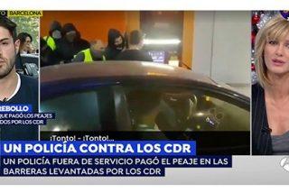 Lamentable: un joven policía se enfrenta a los violentos CDR en un peaje y Griso le resta importancia...