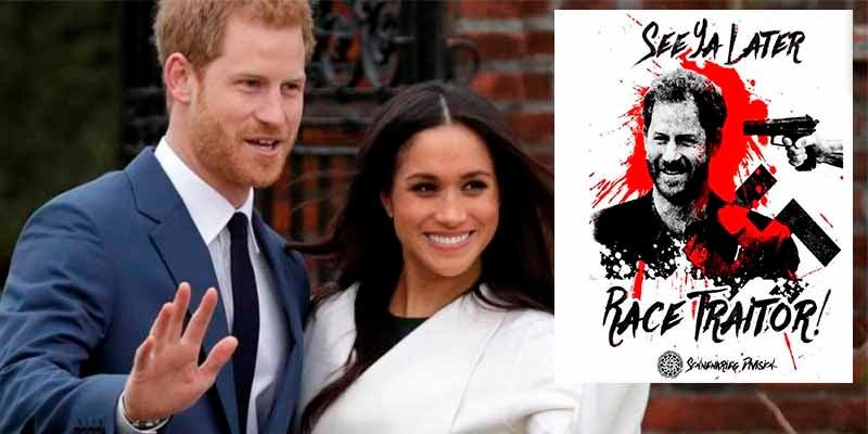 """¡Traidor a la raza!"": un grupo neonazi amenaza al príncipe Harry por casarse con la 'negrita' Meghan Markle"