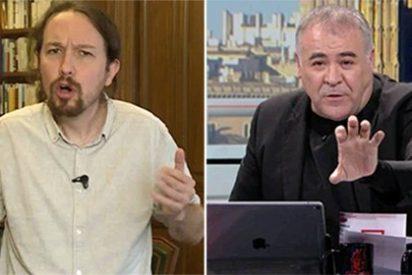 La penosa acusación de Iglesias a Abascal mientras que a Ferreras se 'le olvida' ponerle las asquerosas pintadas a Morante