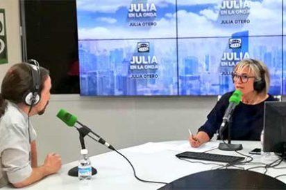 Pablo Iglesias, un maleducado sin castigo: Julia Otero se muerde la lengua pero no disimula su fastidio por otro retraso del podemita