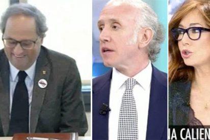 """Ana Rosa e Inda secundan a Casado calificando al hooligan Torra: """"Es un auténtico desequilibrado, ¡irresponsable!"""""""