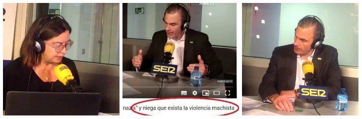 """Javier Ortega se merienda a Barceló (Cadena SER) por tacharle de machista: """"No interesa saber que mueran hombres a manos de mujeres"""""""
