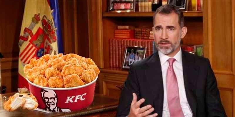 """KFC te regala 11.111 € si el rey Felipe VI pronuncia """"pollo"""" en su discurso de Navidad"""