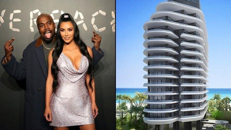 Kim Kardashian y Kanye West compran, por 14 millones de dólares, su 'modesto' apartamento en Miami