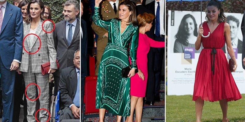El ranking de las 10 meteduras de pata de la Reina Letizia con sus vestidos este 2018