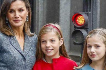 ¿Sabías que Letizia le ha puesto alzas a Leonor para que sea tan alta como su hermana Sofía?