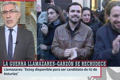Llamazares acusa al 'sujeta pancartas' Garzón de querer vetarle en laSexta y le asesta un golpe genuino