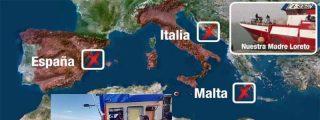 Los once inmigrantes del pesquero español 'Madre Loreto', transferidos a la guardia costera de Malta