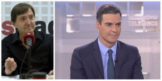 """Losantos apuñala a Sánchez: """"Este felón con entusiasmo alcohólico no se morreó con Torra porque este no quiso"""""""