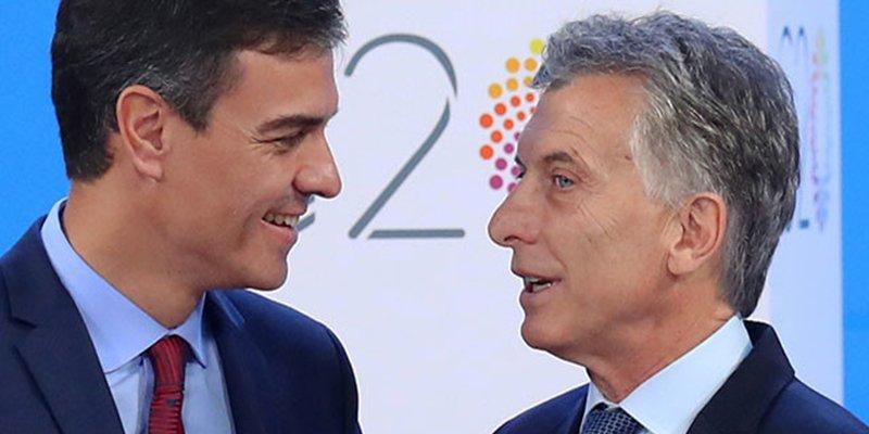 """Macri a Pedro Sánchez sobre el Boca-River: """"Ahora se tienen que ocupar ustedes"""""""