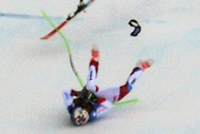 Así fue la brutal caída del esquiador suizo Marc Gisin en una prueba de la Copa del Mundo