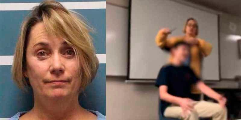 """""""Profesora tijeras"""": corta el pelo a sus alumnos a la fuerza mientras canta a gritos el himno nacional"""