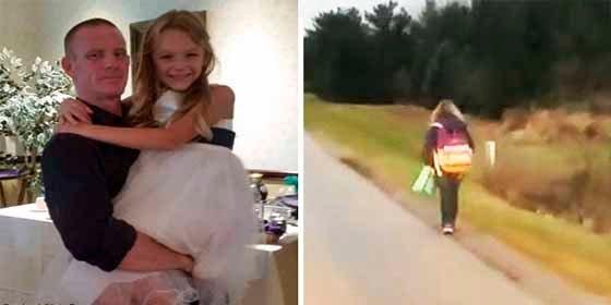 Un padre obligó a su hija a recorrer 10 kilómetros en medio del frío para darle una polémica lección