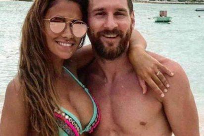 La esposa de Messi opacó a la estrella argentina con la tanguita de su bikinazo