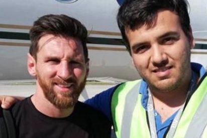 Leo Messi presume de jet privado en su regreso a casa
