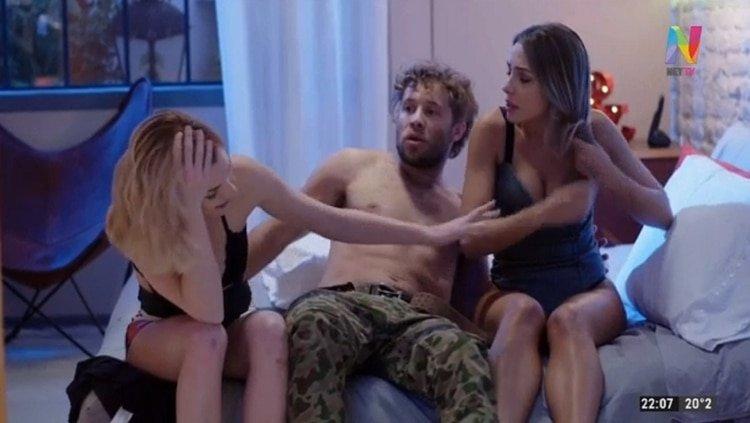 """La sensual escena de sexo entre Luisa Drozdek, Nicolás Riera y Laura Laprida en """"Millennials"""""""