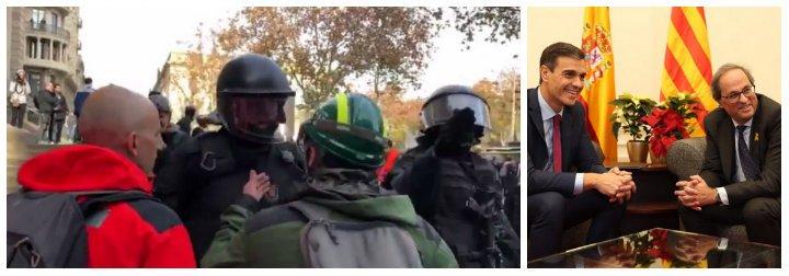 """El mosso que dejó en bolas con una soberbia frase a Sánchez y a Torra: """"La república no existe, idiota"""""""