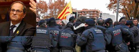 La Rebelión de los Mossos: amenazan a Torra con dejar a los CDR asaltar el Parlament de Cataluña este 21 de diciembre