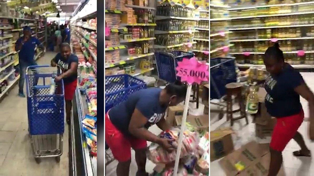 """Colombia: Una mujer desaprovecha un concurso de """"un minuto de mercado gratis"""" y se vuelve viral"""