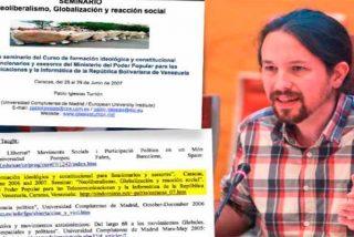 Pablo Iglesias miente: alardeó en su currículum de trabajar para el Gobierno chavista de Venezuela