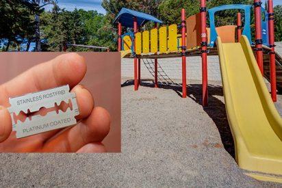 (VIDEO): ¡Encuentran cuchillas de afeitar en los toboganes de este parque infantil!