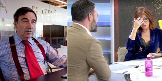 "Ensalada de garrotazos a Pedrojota Ramírez por lanzarse al cuello de Ana Rosa Quintana por, según él, ""humanizar a un líder de extrema derecha"""