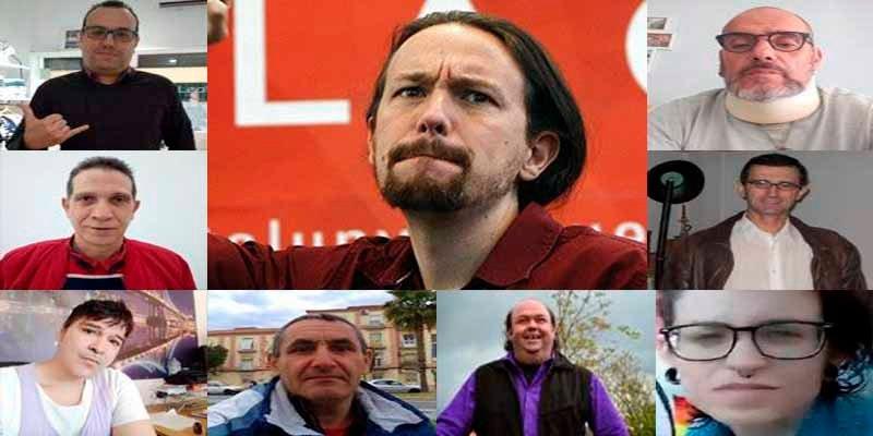 Un converso al islam, semianalfabetos, un paellero... los estrafalarios rivales de Pablo Iglesias en Podemos