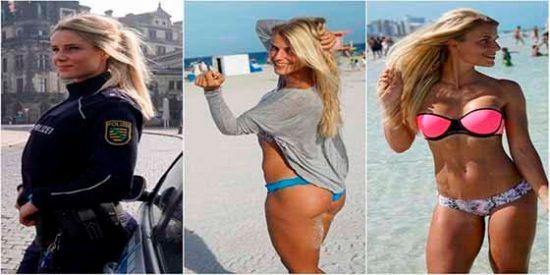 """Adrienne Koleszar """"La policía más bella de Alemania"""" recibe un ultimátum de sus jefes"""