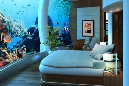Hoteles y resorts bajo el agua: despertar y ver peces