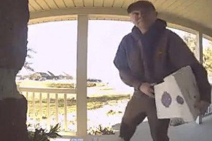 Este repartidor de UPS lo peta con sus bailes 'funk' ante las cámaras de las casas donde deja sus entregas