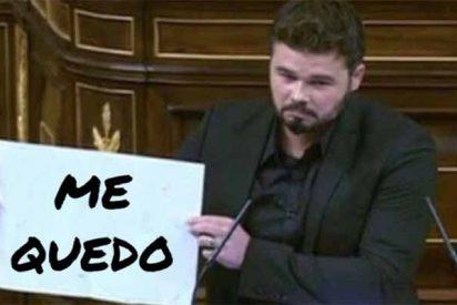 Gabriel Rufián se corona con un real resbalón sobre Felipe VI y Twitter le cruje de plano