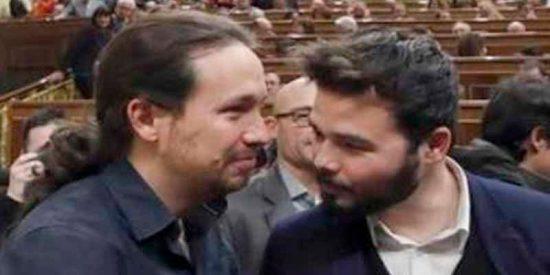 """Gabriel Rufián: """"Mientes Pablo Iglesias a sabiendas y marcas un antes y un después"""""""
