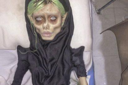 Así son las escalofriantes fotografías que sube a su Instagram la 'Angelina Jolie' iraní