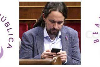 La payasada casposa de Podemos: les cuelan como logo para su 'República' la marca de un salón de belleza
